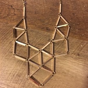 NWT Gold Tone Geometric Costume Necklace